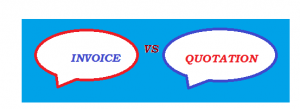 difference between quote and invoice