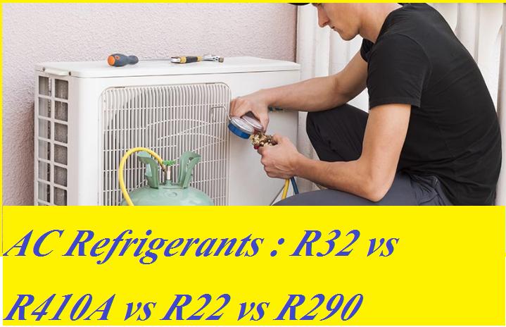 AC Refrigerants : R32 vs R410A vs R22 vs R290 [Performance Test]